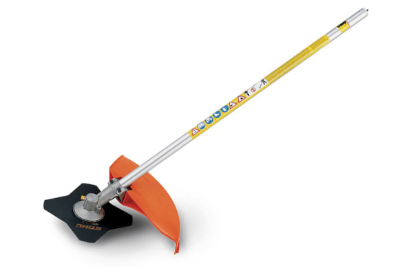 Stihl FS-KM Brushcutter with 4 Tooth Grass Blade for sale at Landmark Equipment, Texas